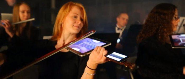 Digital-orchestra-beethoven-violon-ipad-iphone